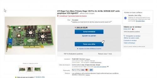 ATI Rage Fury Maxx Primary Rage 128 Pro GL 64 Mo SDRAM AGP carte graphique VGA #gk4037 eBay Mozilla